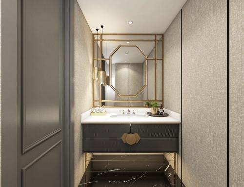 Modern Banyo Dolabı Dekorasyonu